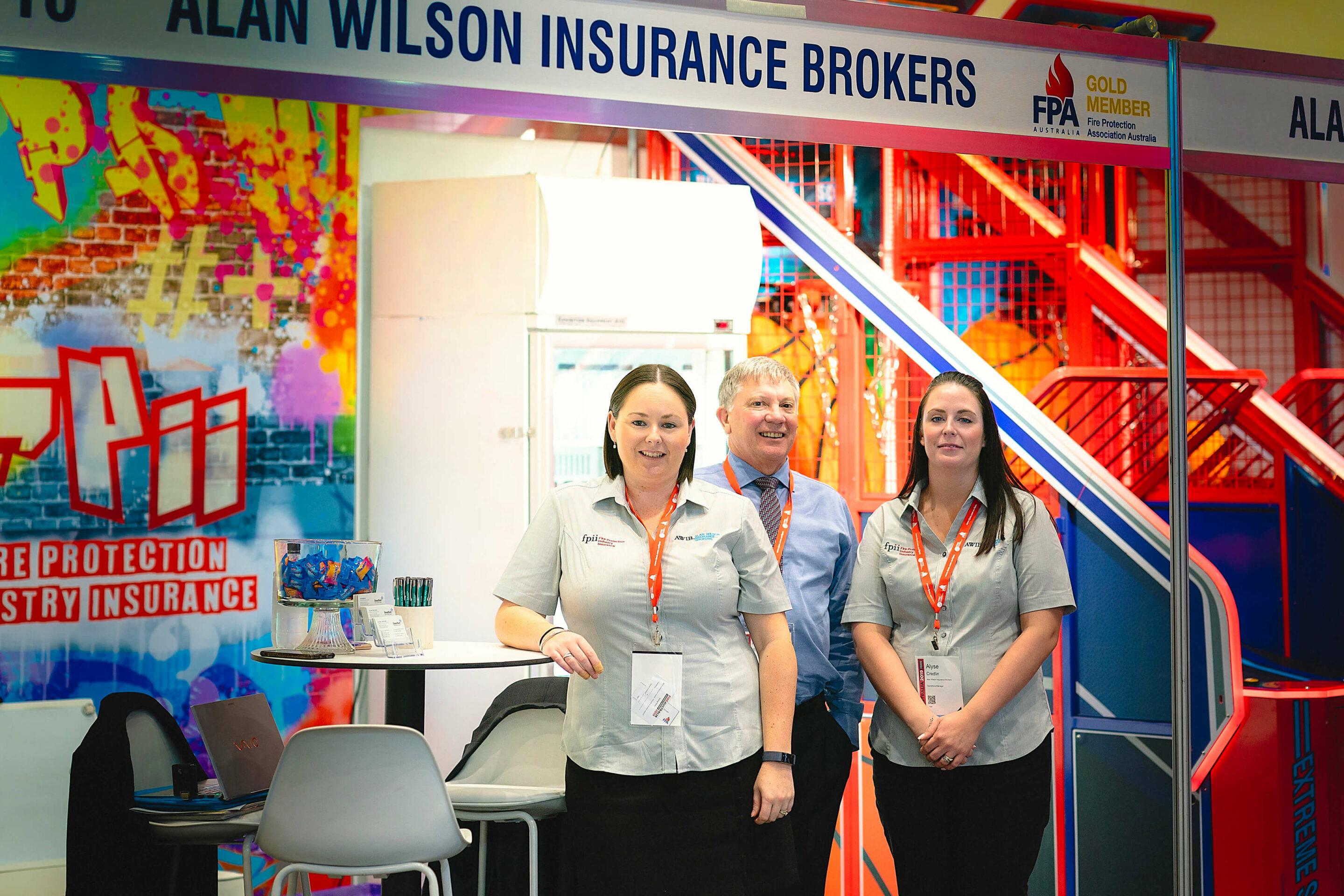 Staff at Alan Wilson Insurance event